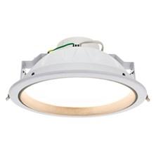 Faro da incasso a LED bianco caldo, 25W, ghiera bianca