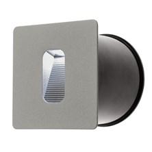 Faro da parete, segnapasso a LED bianco, 3 Watt, grigio chiaro
