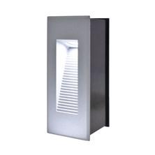 Faro da parete, segnapasso a LED bianco, 3W, color grigio