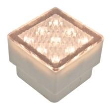 Mattonella LED bianco caldo, 0,8W, 80 x 80 mm