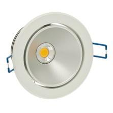 Faro da incasso a LED bianco caldo, 10W, orientabile, ghiera bianca