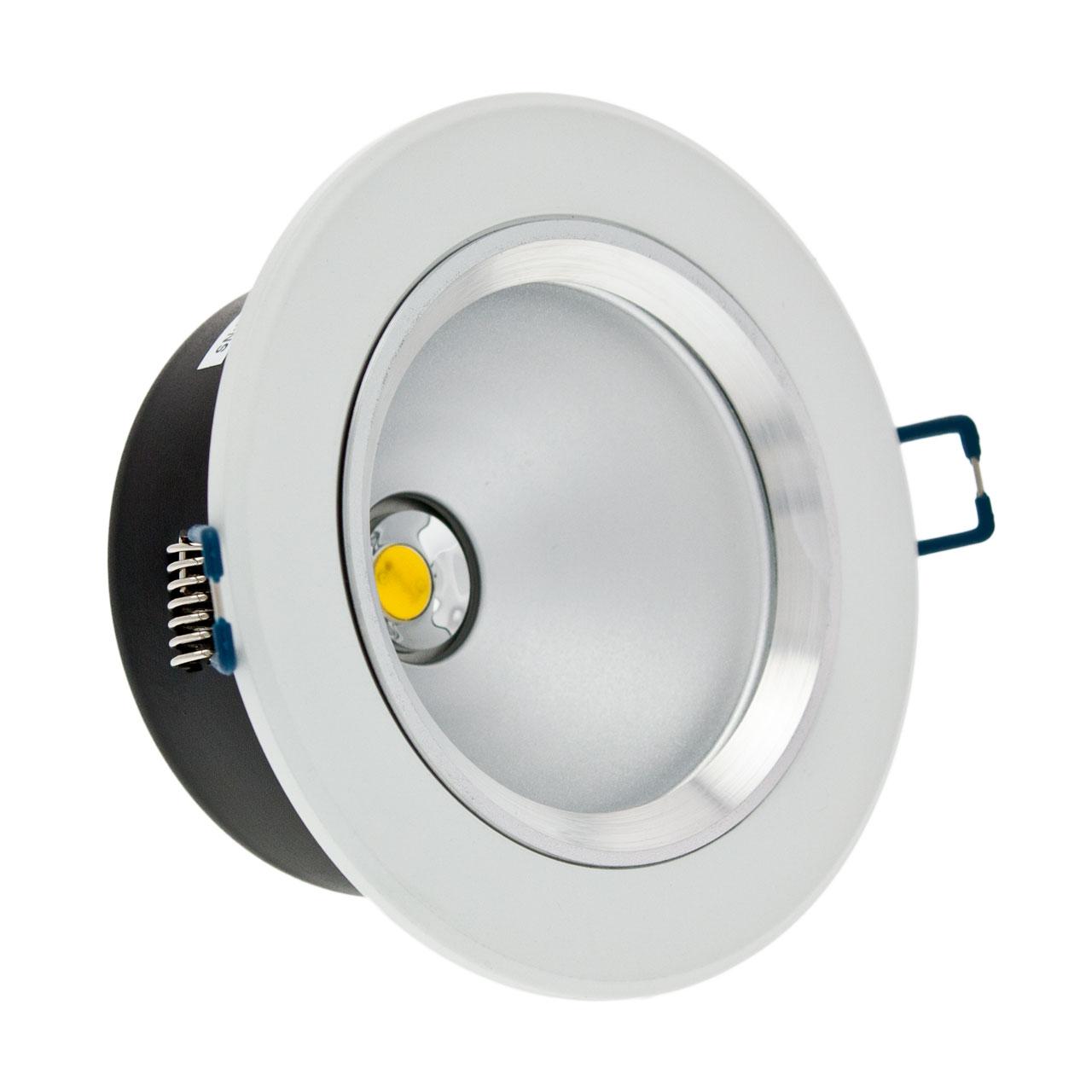 Faro da incasso a LED bianco, 10W, ghiera bianca - Faretti da incasso LED