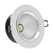 Faro da incasso a LED bianco, 5W, ghiera bianca