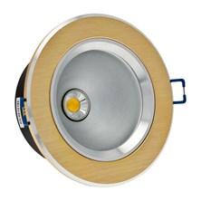 Faro da incasso a LED bianco, 5W, ghiera rame