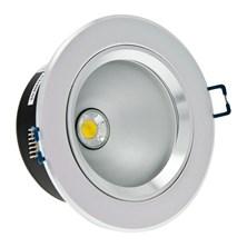 Faro da incasso a LED bianco caldo, 5W, ghiera grigio chiaro
