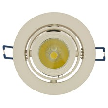 Faro da incasso a LED bianco, 13W, orientabile, ghiera panna