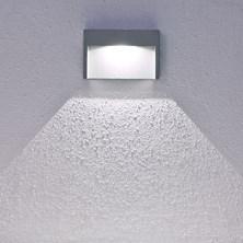 Faro da parete, segnapasso a LED bianco, 3W, grigio chiaro, uso esterno