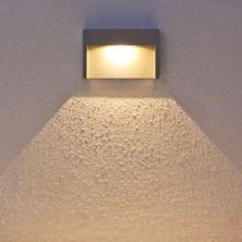 Faro da parete, segnapasso a LED bianco caldo, 3W, grigio chiaro, uso esterno