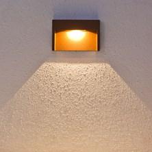 Faro da parete, segnapasso a LED bianco caldo, 3W, color ruggine, uso esterno